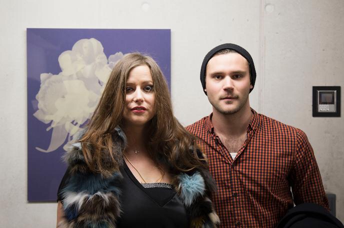 Lucas (Horyou Geneva team) with the artist Mauren Brodbeck