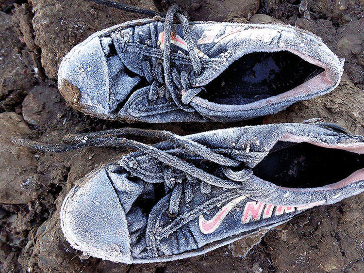 """Frozen Shoes"" - Photo by Maya Rostam, Exiled Voices project"