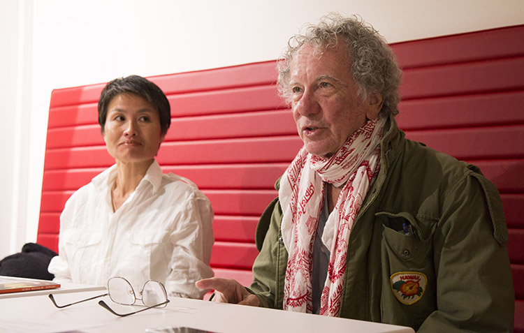 Jean-Jacques Dicker and his wife Yuko Kamiyama