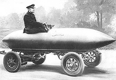 """Illustration de la voiture """"La Jamais Contente"""", 1899"""