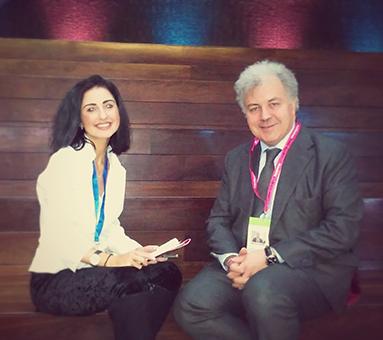 Horyou team member Dearbhla Gavin with Saker Nusseibeh