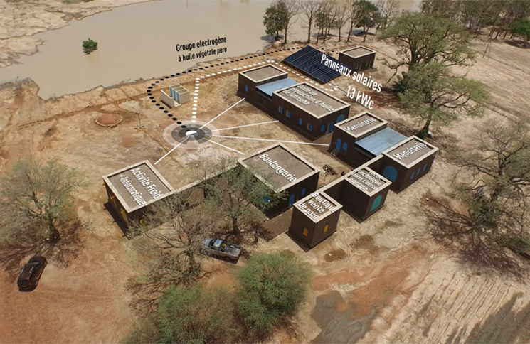 Première zône d'activité électrifiée 100% renouvelable au Mali. Credits : GERES