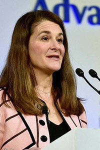 Melinda Gates, co-chair of the Bill and Melinda Gates Foundation.