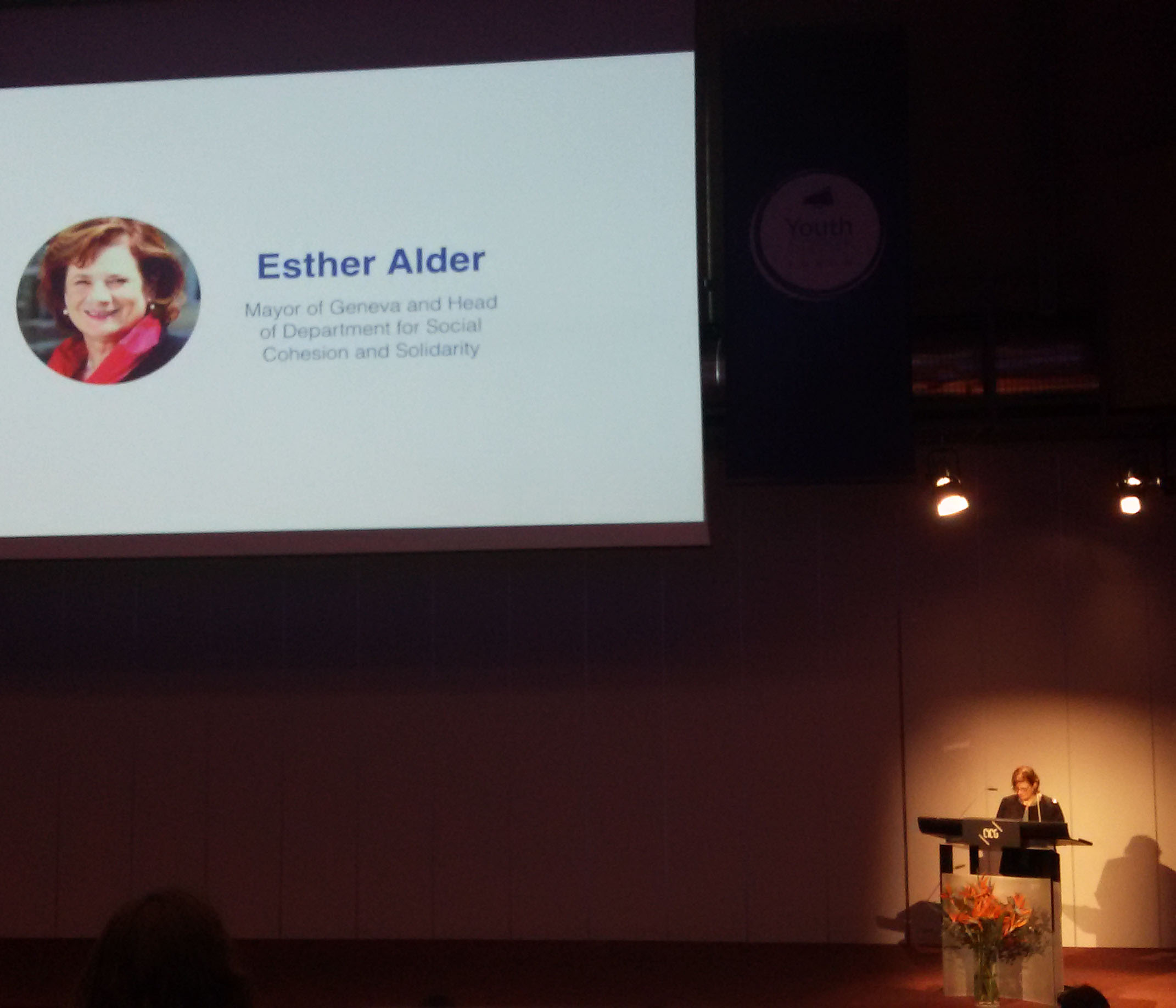 The Mayor of Geneva, Esther Alder