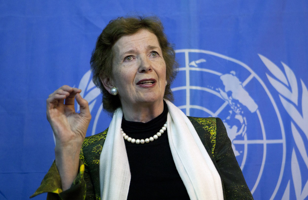 Mary Robinson speaking at COP 21