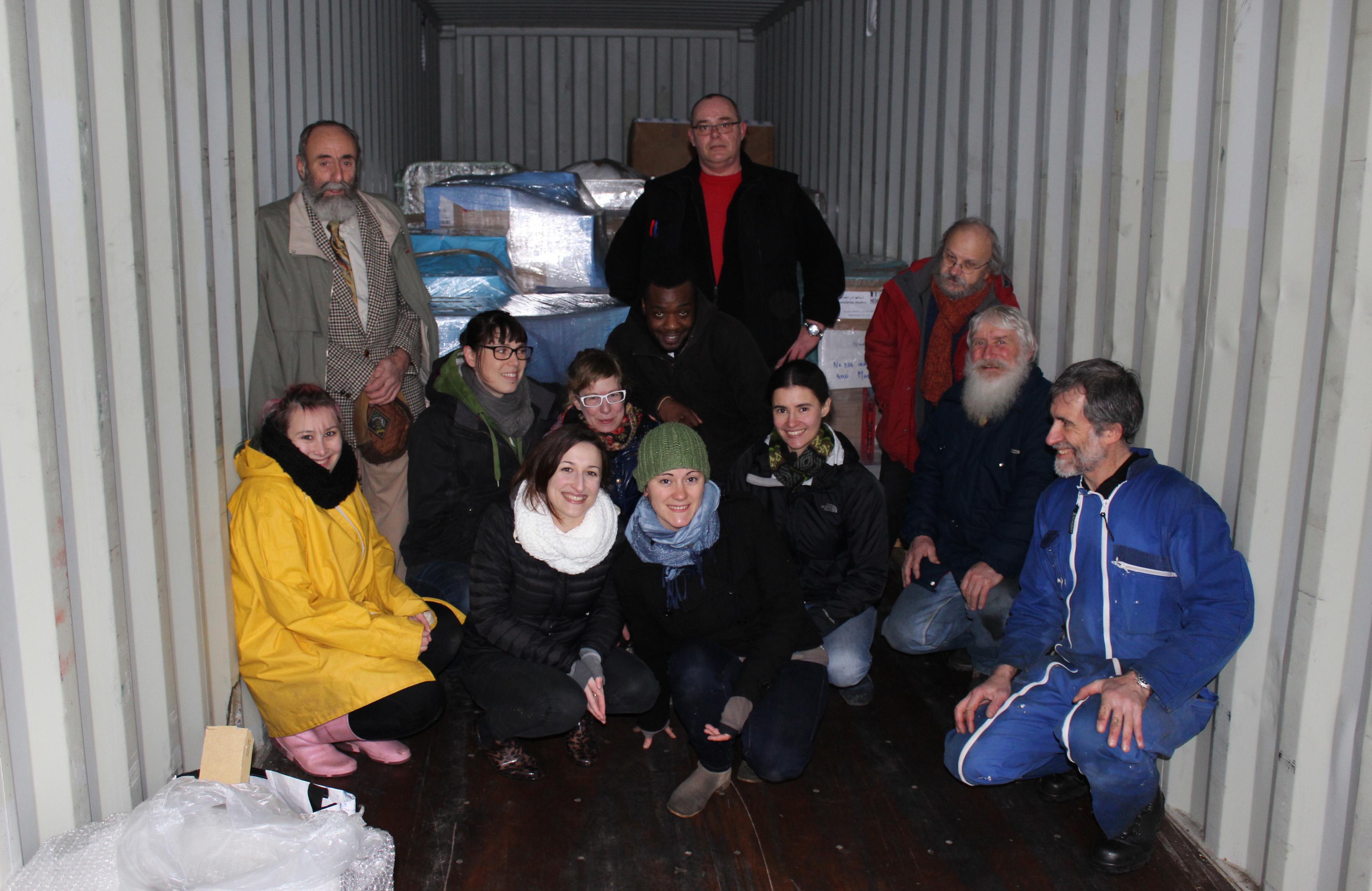 Convoi au départ de Bourges pour la maternité en Syrie