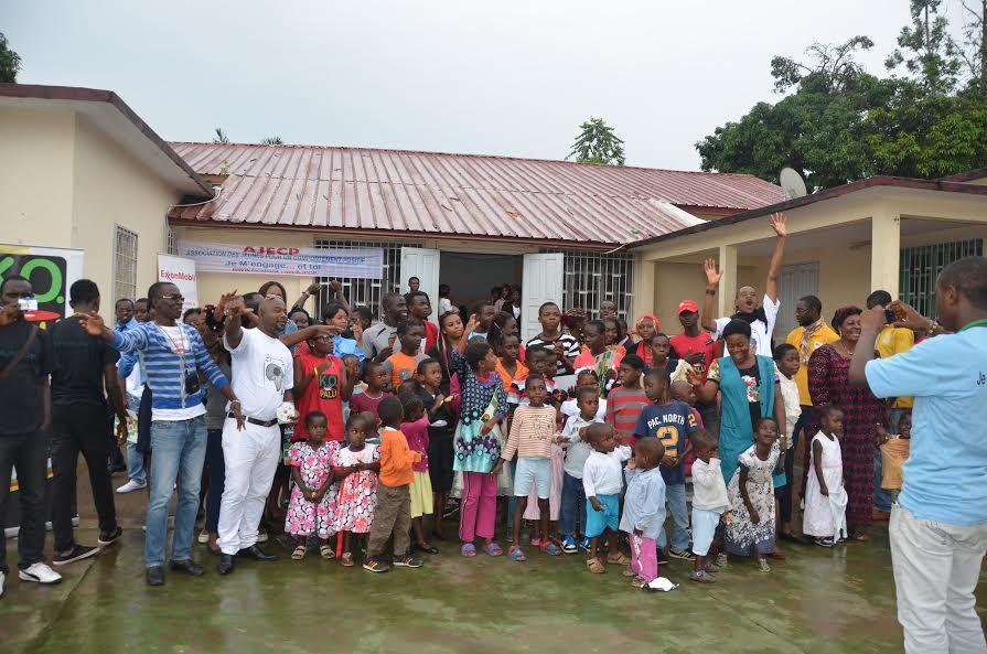 Campagne Papa Bonheur au Centre d'accueil des enfants en détresse de Yaoundé