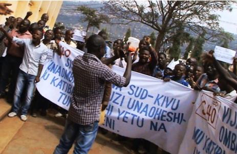 Marche pacifique des jeunes à Bukavu, samedi le 28 mai 2016, pour revendiquer le respect de la constitution de la République Démocratique du Congo