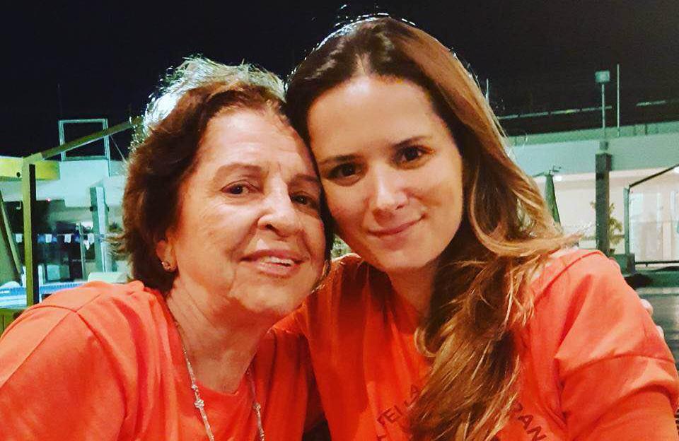 Uma das Fundadoras da Rede Feminina, Dona Dalva Lemos e a líder das voluntárias Luciana Gasparini Ribeiro