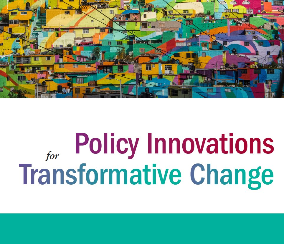 Policy Innovations for Transformative Change was launched on October 17th