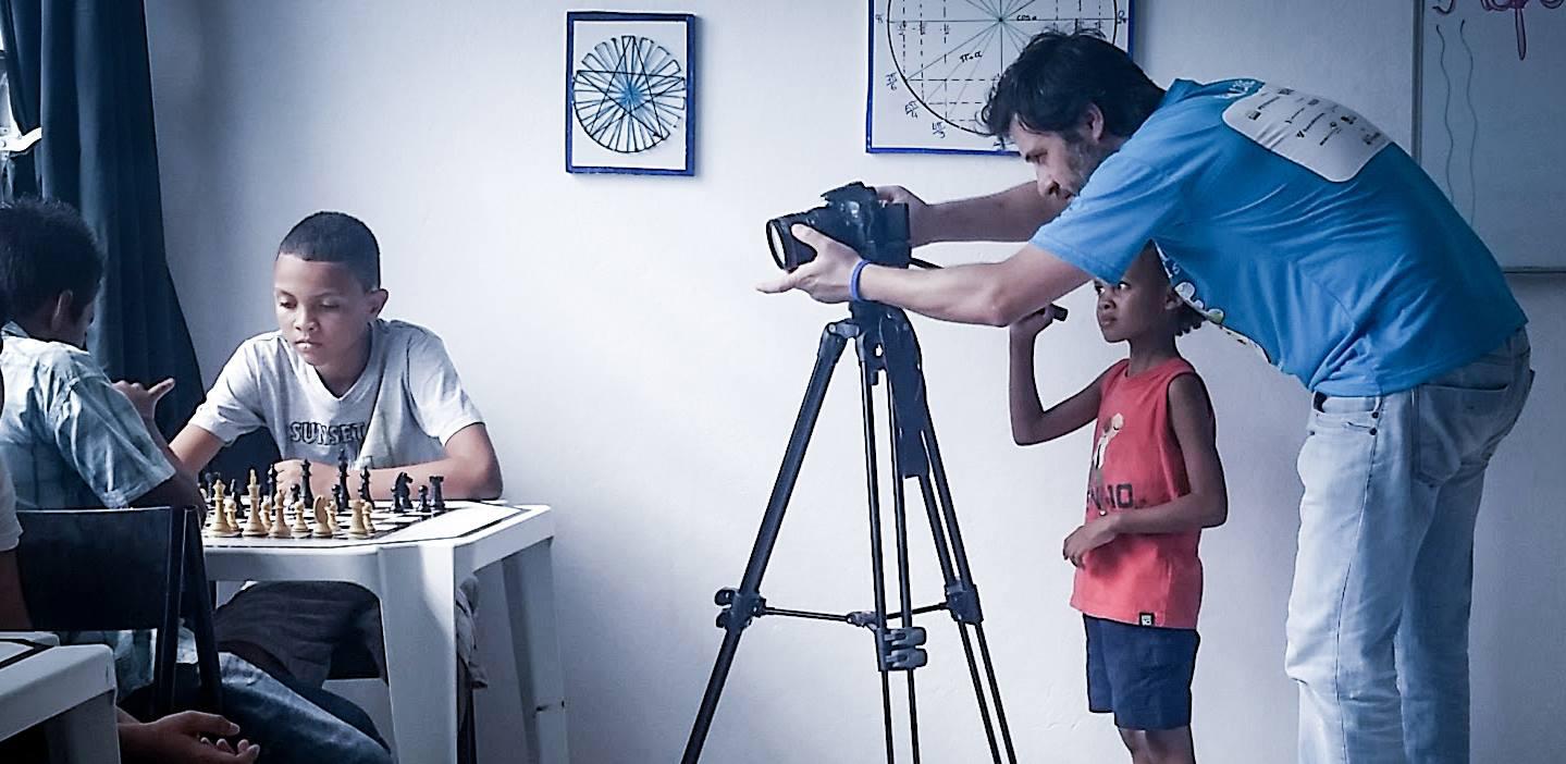 Marco Iarussi em uma das gravações para o Curta a Ideia