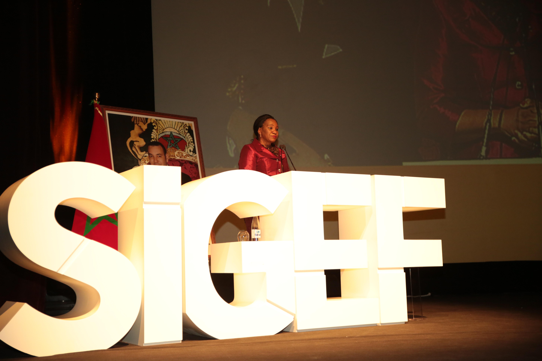 La ministre Rosalie Matondo a parlé au publique du SIGEF