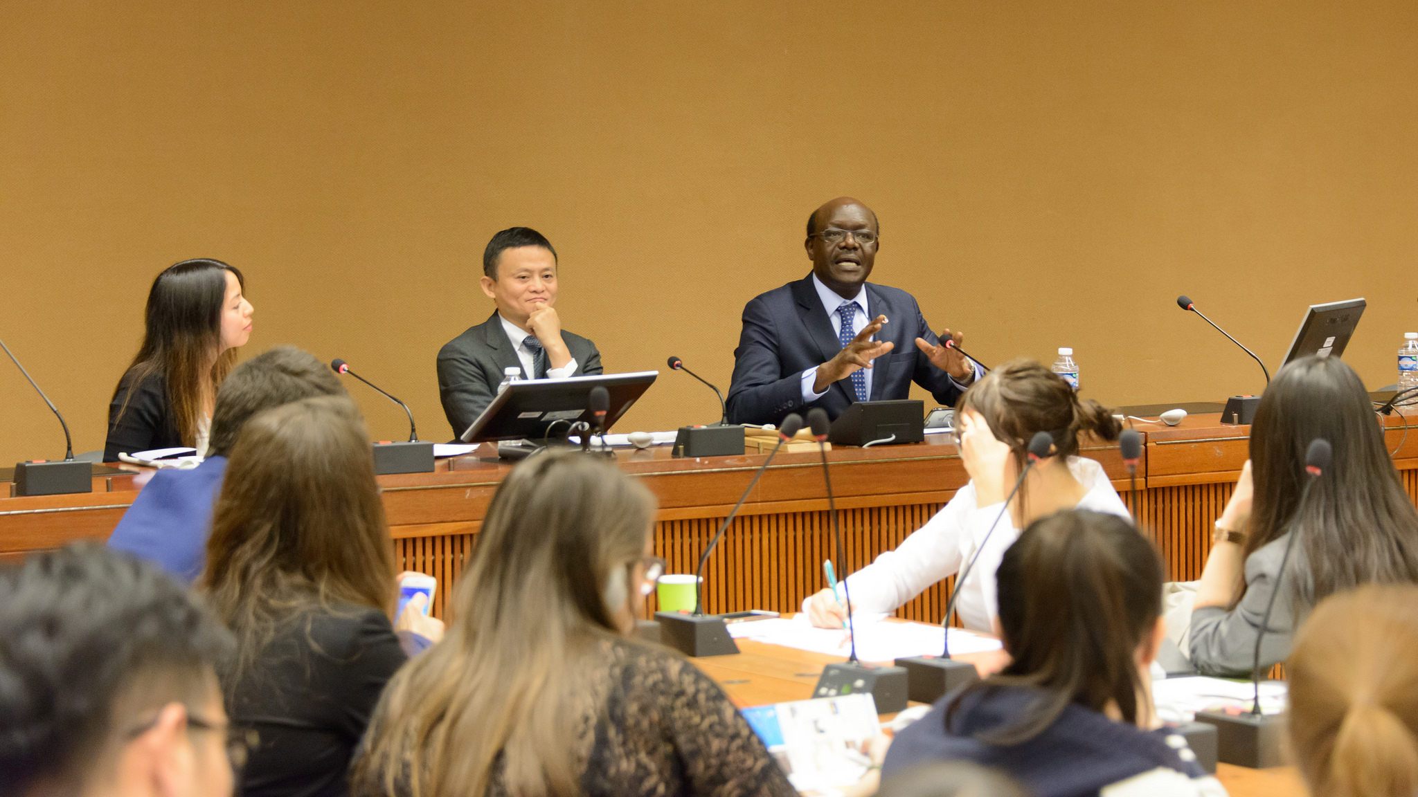 Jack Ma, founder of Alibaba Group, and  UNCTAD Secretary-General Mukhisa Kituyi