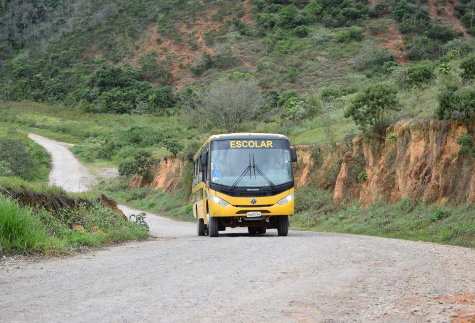 Estrada pavimentada pelo programa Caminhos do Vale, da Usiminas