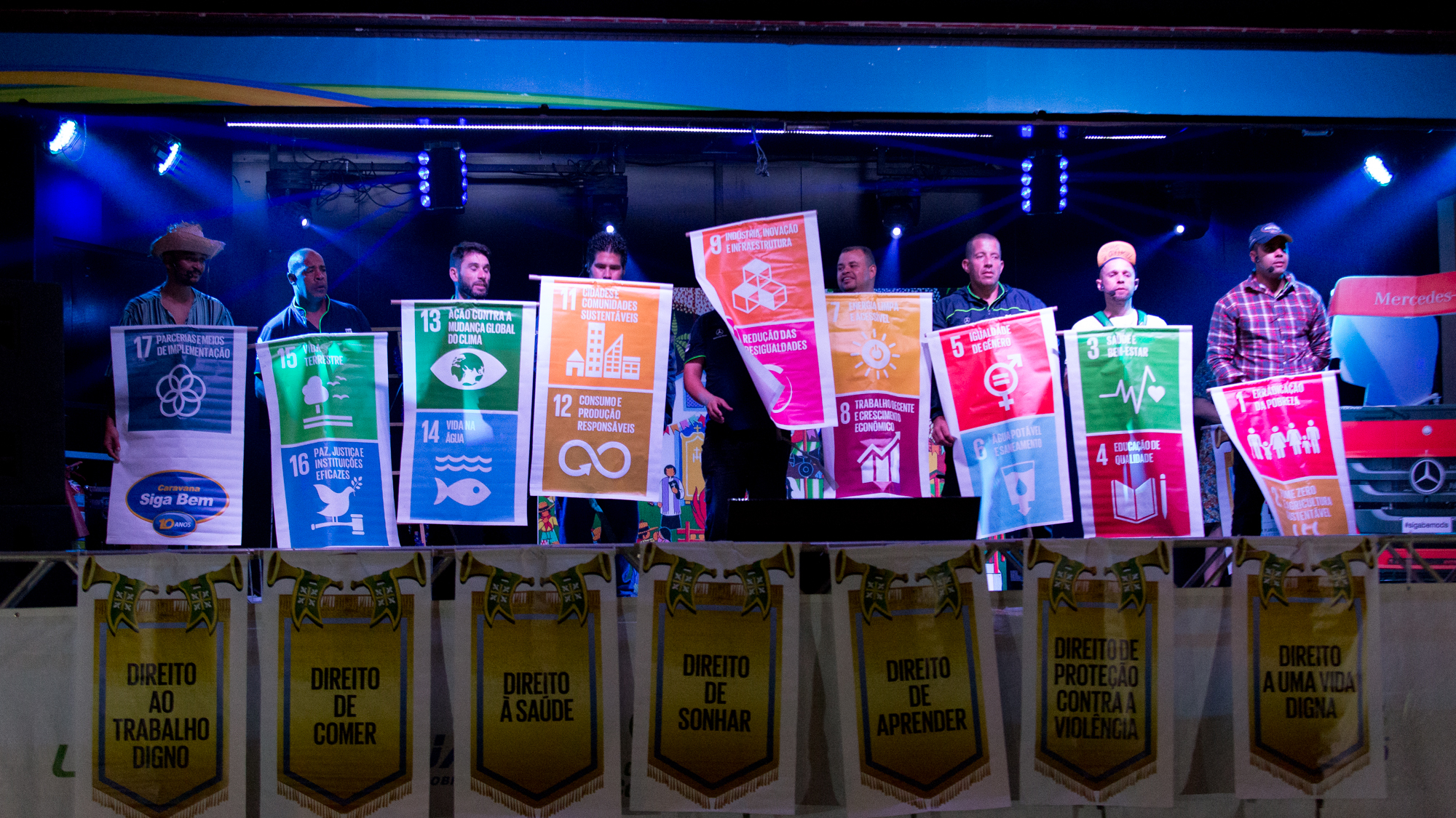 A Caravana Siga Bem se uniu à ONU para promover os Objetivos de Desenvolvimento Sustentável