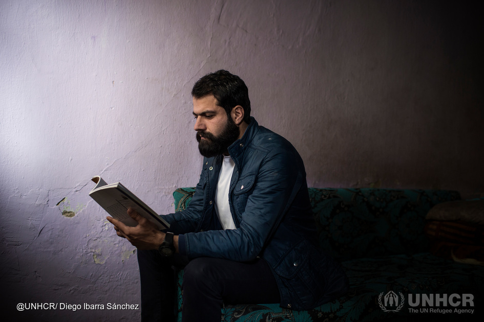 Jankidar, a 31 years old Syrian student who fled to Lebanon. Photo UNHCR