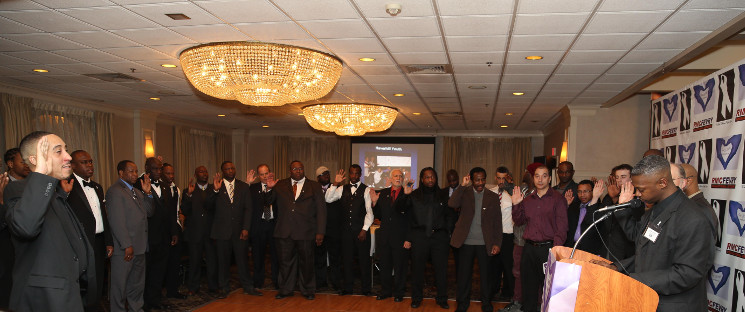 White Ribbon Night Gala, where men are invited to speak out against domestic violence