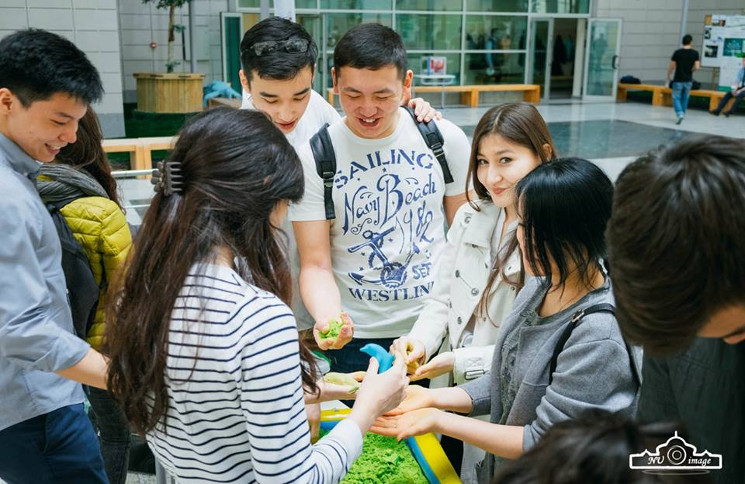 Students of Nazarbayev University promote events to raise funds and awareness to the project
